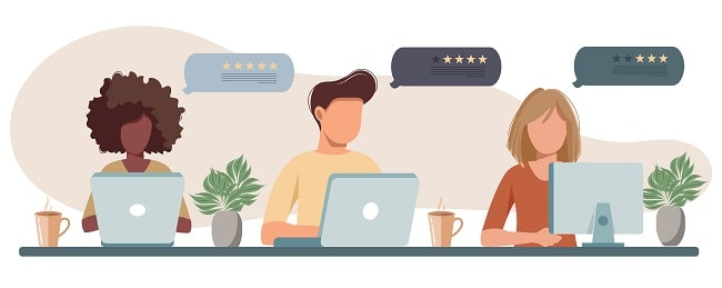 Customer satisfaction. Feedback. Rating on customer service, local move